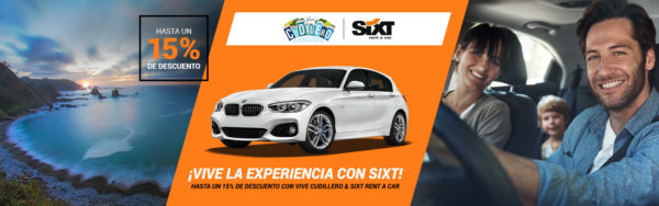 Promoción Sixt 15% descuento ViveCudillero