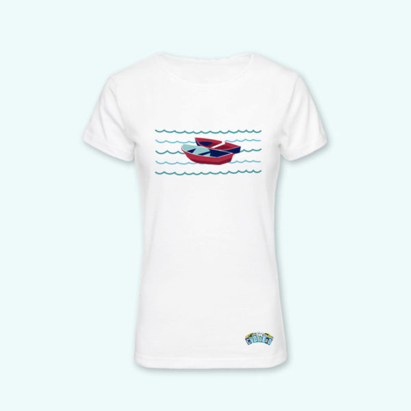 Camiseta chica barcas