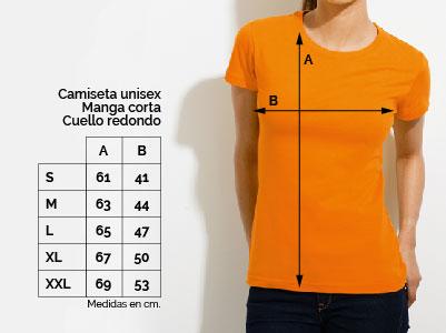 camiseta chica talla