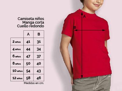 camiseta niño talla