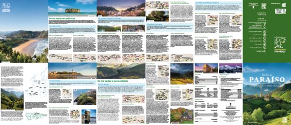 Mapa rutas coche Asturias