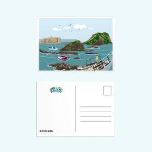 postal barcas puerto Asturias