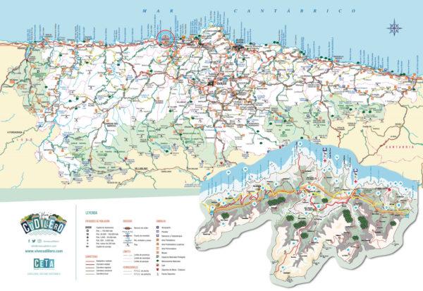 Mapa Costa De Asturias.Planos Mapas Y Folletos De Asturias Y Cudillero Vive