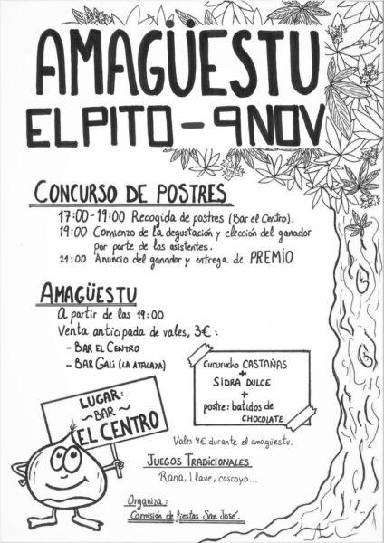 Cartel de Amagüestu en El Pito (Cudillero)