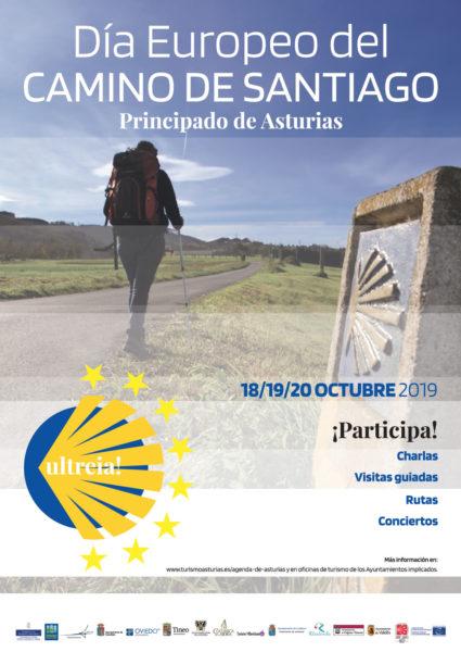 Cartel del I Dia Europeo del Camino de Santiago