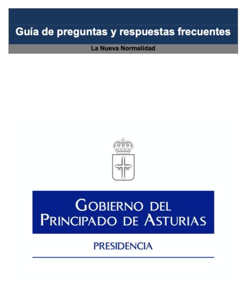 Preguntas Frecuentes sobre la Nueva Normalidad, por el Gobierno del Principado de Asturias